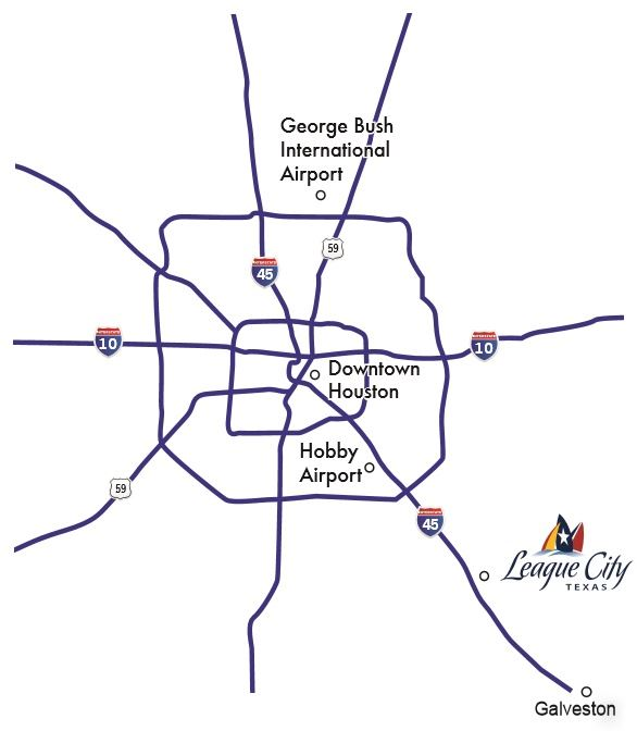Houston Regional Map, League City